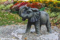 Éléphant de parc de Skazki dans Gelendzhik Photographie stock