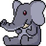 Éléphant de peluche d'art de pixel de vecteur Photographie stock libre de droits