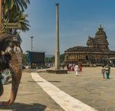 Éléphant de temple de Sringeri photo libre de droits