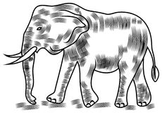 Éléphant de vecteur Images stock