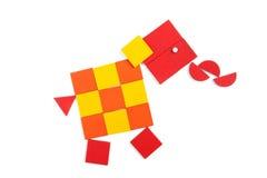 Éléphant des chiffres géométriques Photographie stock