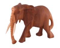 Éléphant en bois Images libres de droits