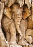 Éléphant en bois Photo libre de droits