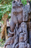 Éléphant en bois Image stock