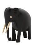 Éléphant en bois découpé par antiquité Images stock