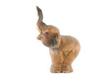 Éléphant en bois d'isolement Photos libres de droits