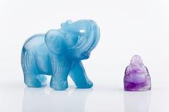 Éléphant et Bouddha Photo libre de droits