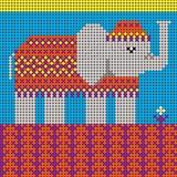 Éléphant et fleur illustration stock