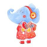Éléphant et oiseau Photographie stock