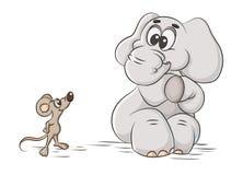 Éléphant et souris Images stock