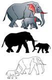 Éléphant et veau Photographie stock
