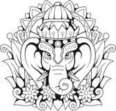 Éléphant Ganesha, illustration de Dieu Image stock
