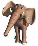 Éléphant heureux Image libre de droits