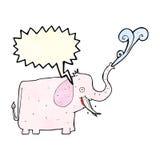 éléphant heureux de bande dessinée avec la bulle de la parole Photo libre de droits