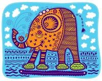 Éléphant jaune décoratif Photos libres de droits