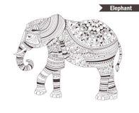 Éléphant Livre de coloration Photos stock