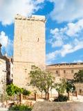 Éléphant médiéval de tour Photo stock