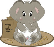 Éléphant mangeant des arachides illustration stock