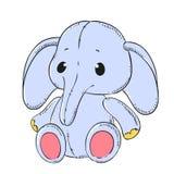 Éléphant mol mignon de jouet Photographie stock libre de droits