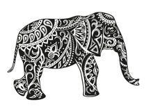 Éléphant ornementé ethnique Photo stock