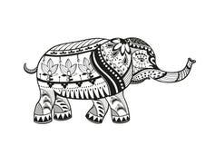 Éléphant ornementé ethnique de bébé Image stock