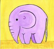 Éléphant rose Images libres de droits