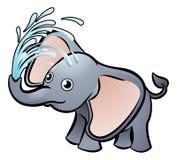 Éléphant Safari Animals Cartoon Character Images libres de droits