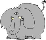 Éléphant souriant d'un air affecté Images stock