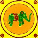 Éléphant sur le jaune illustration de vecteur