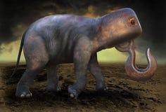 Éléphant surréaliste de la science-fiction d'imagination images stock