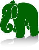 Éléphant vert Images libres de droits