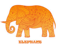 Éléphant Zentangle de conception Photo stock