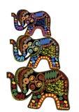 Éléphants décoratifs Photo stock