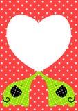 Éléphants dans la carte de jour de Valentines d'amour Photographie stock