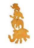 Éléphants de équilibrage Image libre de droits