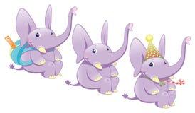 Éléphants de chéri Photographie stock libre de droits