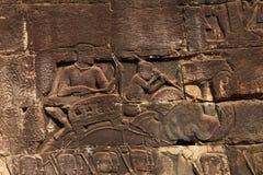Éléphants de guerre et l'armée de Khner Image stock