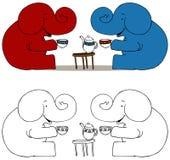 Éléphants de réception de thé illustration libre de droits