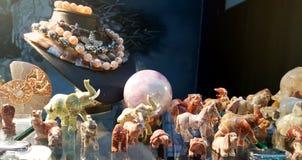 Éléphants des pierres semi précieuses Images libres de droits