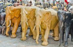 Éléphants pour le culte. Images libres de droits