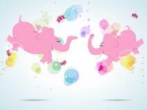 Éléphants roses Photos libres de droits