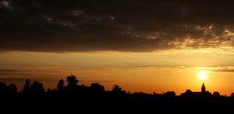 Élévation de Sun Photographie stock libre de droits