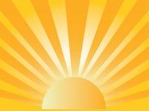Élévation de Sun Photographie stock