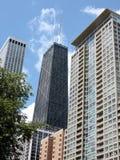 Élévations élevées Chicago du centre Image libre de droits