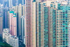 élévations élevées de Hong Kong Images libres de droits