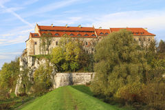 Él abadía benedictina en Tyniec, Kraków, Polonia Imagen de archivo libre de regalías