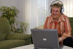 ÉL abuela divertida fotos de archivo libres de regalías