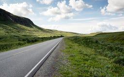 Él camino al cabo del norte, Noruega Fotos de archivo libres de regalías