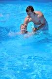 Él casi puede nadar Foto de archivo libre de regalías