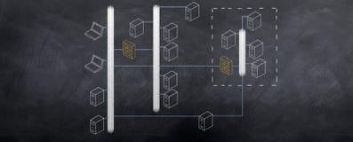 ÉL diagrama de la topología de red Foto de archivo libre de regalías